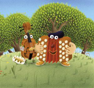 Cliquez sur Léon pour accéder au site du petit accordéon et de ses amis